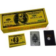 Карты игральные 100% пластик 54 карт 100$ 12 колод/упаковка