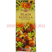Благовония HEM Peach Vanilla (персик-ваниль) 6 шт/уп, цена за уп