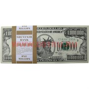 Прикол Пачка денег 1 млн. долларов оригинального размера, иммитация