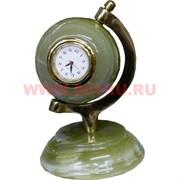 """Часы из оникса """"Глобус"""" 4 дюйма"""