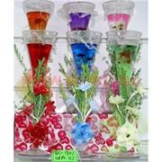 Свеча гелевая с подсветкой GL-1301, 6 цветов,цена за 48шт