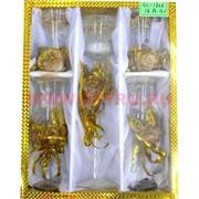 Свеча гелевая,набор из 5ти предм с подсветкой GL-1306, 5 цветов,цена за 12наборов