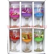 Свеча гелевая с подсветкой GL-1308, 6 цветов,цена за 120шт