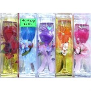Свеча гелевая с подсветкой GL-1317, 6 цветов,цена за 60шт