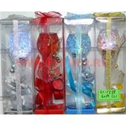 Свеча гелевая с подсветкой GL-1338, 4 цвета,цена за 60шт