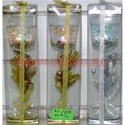Свеча гелевая с подсветкой GL-1339, 6 цветов,цена за 48шт