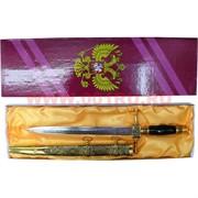 Кинжал сувенирный с росписью 40 см (арт.5) и российским гербом