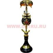 Кальян Magix «Красная площадь» с богемской колбой 70 см (вверху пепельница) цвет черный