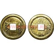 Китайская монета 3 см золотая