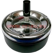 Пепельница круглая железная средняя, цвета в ассортименте