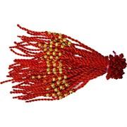 Браслет на руку 100 шт «красная нитка + 3 бусины круглые» цена за 100 шт