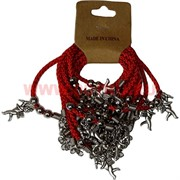 Браслет на руку «красная нитка с ангелом» цена за 12 шт