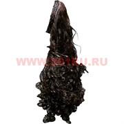 Парик с ободком коричневый 65 см
