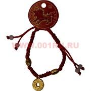 Браслет «красная нитка + монета» цена за 12 шт