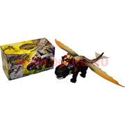 Динозавр летающий с наездником (машет крыльями, ходит, светится)