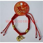 Браслет «красная нитка + слоник» цена за 12 шт