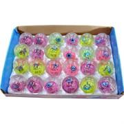 Мячик светящийся 45 мм с рисунками, цена за 24 штуки