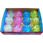 Мячик светящийся 75 мм перламутровый (1005), цена за 12 штук