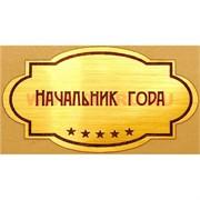 """Наклейка на статуэтку """"Оскар"""" оптом """"Начальник года"""""""