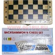 Нарды+шахматы деревянные 1 размер (8801)