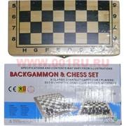 Нарды+шахматы деревянные 2 размер (8803)