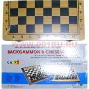 Нарды+шахматы деревянные 4 размер (8805)
