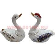 Лебеди из фарфора (160А) со стразами, цена за пару