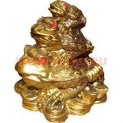 Нэцке, три жабки на монетах малые