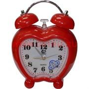 """Часы будильник """"яблоко"""" кварцевые 3 цвета"""