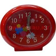 Часы будильник кварцевые овальные
