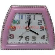 Часы будильник кварцевые трапеция