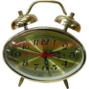 Часы будильник механические овальные