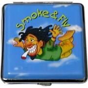 """Портсигар на 20 сигарет """"Растаманы"""" рисунки в ассортименте"""
