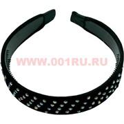 Ободок для волос бархатный со стразами (AB813), цена за уп 12 шт