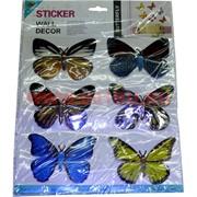 "Бабочки для декорирования ""Room Décor"" цена за 72шт/уп,12 листов"