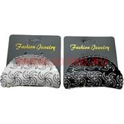 "Заколка для волос ""краб"" со стразами 2 цвета (KR801), цена за уп из 12 шт"