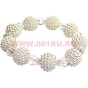 """Браслет """"Ягода и кристалл"""" (HR-687) цвет белый, цена за 12 шт/уп"""