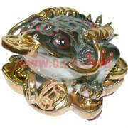 Жаба Фэн Шуй с монетой из фарфора 5 см (2048)