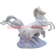 """Символ 2014 года """"Бегущие лошади"""" 25 см высота из фарфора"""