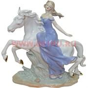 """Символ 2014 года композиция """"Девушка на лошади"""" 29 см высота"""