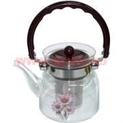 Чайник заварочный стеклянный 0,6 л (27 шт/кор)