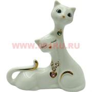 Фарфор, влюбленные кошки со стразами 11см