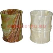 "Ваза (карандашница) из оникса ""бамбук"" 10 см (2,5х4)"
