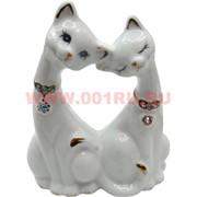 Фарфор, влюбленные кошки со стразами 13см