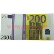 Прикол Пачка денег 200 евро оригинального размера (иммитация)