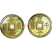 Монета 2,6 см китайская золотая 1 качество, цена за 100 шт