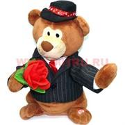 """Игрушка музыкальная """"Медведь в шляпе с цветами"""""""