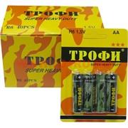 """Батарейки солевые """"Трофи"""" АА, цена за уп 40 шт, блистер"""