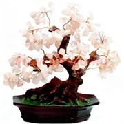 """Дерево Феншуй """"розовый кварц"""" (64) 20 см"""
