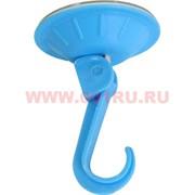 Крючок бытовой на вакуумной присоске (цветной)